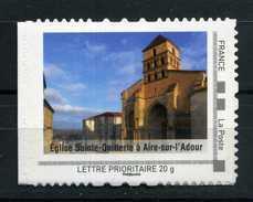 """Eglise Sainte Quillerie A AIRE SUR L'ADOUR Adhésif Neuf ** . Collector """" L' Aquitaine """"  2009 - Collectors"""
