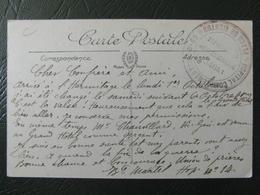 """1915 - WW1 CACHET MILITAIRE """" HOPITAL COMPLEMENTAIRE N° 69 PLACE DE MENTON OFFICIER ADMINISTRATION """" CP FM FRANCHISE - Poststempel (Briefe)"""