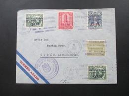 Guatemala 1936 Luftpostbrief. Marken Mit Rotem Und Schwarzem Aufdruck! Consul Of The Internacia Ligo - Guatemala