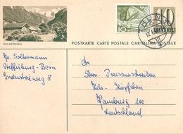 """PK 182  """"Wilderswil""""            1959 - Entiers Postaux"""