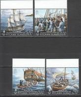 X164 PITCAIRN ISLANDS SHIPS & BOATS MUTINY ON THE HMAV BOUNTY 1SET MNH - Ships