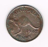 &-  AUSTRALIE  1 PENNY   KANGOEROE 1942  GEORGIUS VI - Monnaie Pré-décimale (1910-1965)