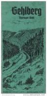 Gehlberg 1939 - 14 Seiten Mit 19 Abbildungen Und Einer Umgebungskarte - Beiliegend Wohnungsnachweis - Reiseprospekte