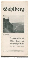Gehlberg 1937 - Faltblatt Mit 6 Abbildungen - Beiliegend Wohnungsnachweis - Reiseprospekte