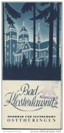 Bad Klosterlausnitz 1935 - 12 Seiten Mit 21 Abbildungen - Beiliegend Wohnungsanzeiger Und Umgebungsplan - Reiseprospekte