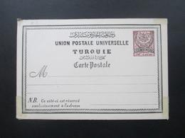 Türkei Um 1880 Ganzsache Ungebraucht! Union Postale Universelle P2 ?! - 1858-1921 Impero Ottomano