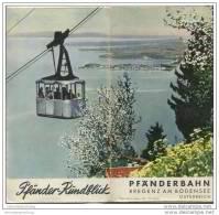 Pfänderbahn - Bregenz Am Bodensee - Pfänder-Rundblick 88cm X 20cm Zwei Bilder Signiert Schwarz - Oesterreich