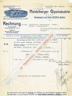 Brief 1933 HEIDELBERG - HEIDELBERGER GIPS-INDUSTRIE - Allemagne