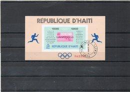 HAITI   Bloc Feuillet 2,00    1969    Marathons De Mexico  Non Dentelé    Oblitéré - Haití