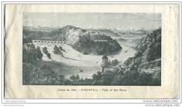 Rheinfall 1910 - Faltblatt Übersichtskarte Rheinfall Und Umgebung - Svizzera