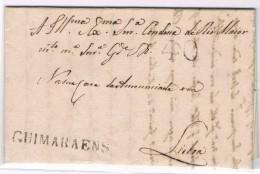 Portugal, 1828, Guimarães-Lisboa - Portugal