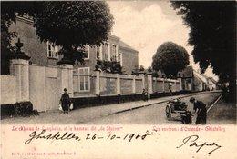 1 Cpa La PANNE.  Avenue Vers La Mer, Enfant Avec Son Charette De Chiens, Vue Annimé - Hondenkar éd Au Petit Bonheur - De Panne