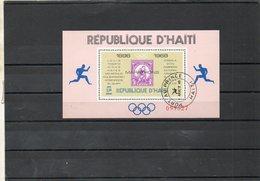 HAITI   Bloc Feuillet 1,50    1969    Marathons De Mexico    Oblitéré - Haití