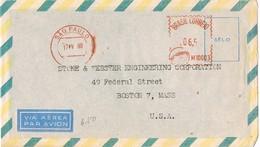 29761. Carta Aerea SAO PAULO (Brasil) 1960. Franqueo Mecanico - Brasil