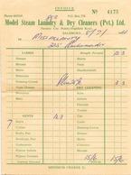 "Facture Du 8 Juillet 1964 "" Model Steam Laundry & Dry Cleaners à Salisbury ( Blanchisserie ) - United Kingdom"
