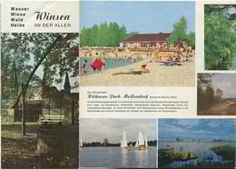 Winsen An Der Aller 60er Jahre - Faltblatt Mit 11 Abbildungen - Unterkunftsverzeichnis - Niedersachsen
