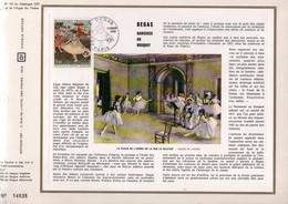 1970 DOCUMENT FDC PEINTURE DE DEGAS - Documents De La Poste