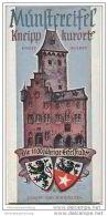 Bad Münstereifel 50er Jahre - Faltblatt Mit 10 Abbildungen - Stadtplan Und Unterkunftsverzeichnis - Nordrhein-Westfalen