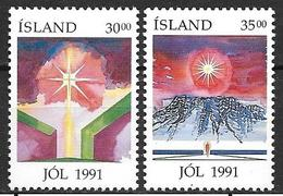 Islande 1991 N° 711/712 Neufs Noël - 1944-... Republik