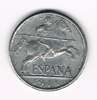 &-  SPANJE  10 CENTIMOS  1945 - 10 Céntimos