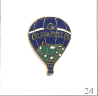 """Pin's Transport - Montgolfière / Ballon Résidences """"Les Olivarelles"""" à Marseille (13). Estampillé Stadium. EGF. T612-24 - Airships"""