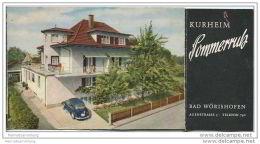 Bad Wörishofen 50er Jahre - Kurheim Sommerruh - Faltblatt In Postkartengrösse Mit 7 Abbildungen - Bayern