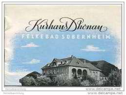 Sobernheim 50er Jahre - Felkebad - Kurhaus Dhonau - 12 Seiten Mit 19 Abbildungen - Postkartengrösse - Rheinland-Pfalz