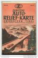 Zumsteins Auto Relief Karte Nr. 55 - Oberbayern Tirol - 1:250 000 - 94cm X 72cm - Landkarten