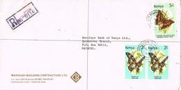 29763. Carta Certificada CITY SQUARE (Nairobi) Kenia 1992 - Kenia (1963-...)