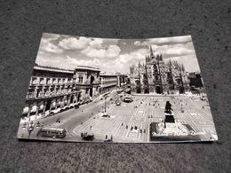 ANTIQUE PHOTO POSTCARD ITALY MILANO - PIAZZA DUOMO CIRCULATED 1951 - Milano
