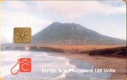 Antilles (Neth) - St. Eustatius, Eutel, EUS-E-07, The Quill, 120U, 3.000ex, 10/96, Used As Scan - Antilles (Netherlands)