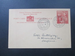 Malta 1952 Ganzsache Stempel Malta Trade Fair Post Office - Malta