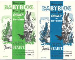 Lot 2 Buvards - BABYBIOS - Règle Du Jeu Dans Jeunesse Et Beauté, Libraire Ou écrire Paris 17e - Stationeries (flat Articles)