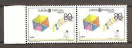 1989 Portogallo Madeira Portugal EUROPA CEPT EUROPE 2 Serie Coppia MNH** AQUILONI KITES - Europa-CEPT