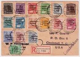 1948, Vorläufer, Seltener Satz-Brief ,  #a936 - [5] Berlin