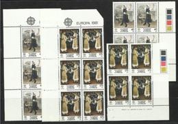 1981 Cipro Cyprus EUROPA CEPT EUROPE 10 Serie Di 2v. MNH** - Europa-CEPT