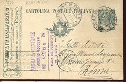 37357 Italia, Stationery Card 15c. Circuled 1921 Advertising Fabbrica Italiana Calzature,Italian Footwear Factory,torino - Pubblicitari
