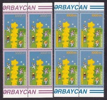 2000 Azerbaijan EUROPA CEPT EUROPE 4 Serie Di 2v. Quartina MNH** Bl.4 - Europa-CEPT