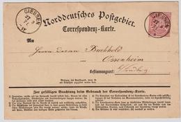 3 Kr. A. Correspondenz Karte, 1871 ,  #a939 - Norddeutscher Postbezirk (Confederazione Germ. Del Nord)