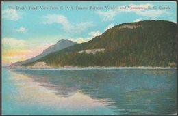 The Duck's Head, British Columbia, C.1920s - Coast Publishing Co Postcard - British Columbia