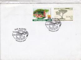 SOBRE SOLENOCERA MEMBRANACEA, FAUNA DEL MAR JONIO, OBLITERE TARENTUM 2000 SAN MARINO- BLEUP - San Marino
