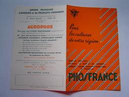 BROCHURE Ancienne : AGRICULTURE / ENGRAIS PHOSFRANCE / ISTRES 1959 - Publicités