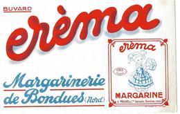 Buvard - MARGARINE EREMA - Margarinerie De BONDUES, Nord  - A. MAILLARD & Cie Fabricants - Leche
