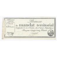 MANDAT TERRITORIAL DE 25 FRANCS - 28 VENTOSE AN 4 - 18/03/1796 - SANS SERIE -TTB - - Assignats & Mandats Territoriaux