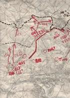 Fragment De Carte Routiere Militaire? Entoilée Region Ardennes Sedan Givonne Illy 1915-1916?-               Tda118 - Cartes