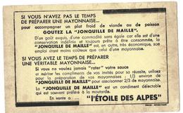 Buvard - L'ETOILE DES ALPES - JONQUILLE De MAILLE - Condiment Remplaçant La Mayonnaise - Leche