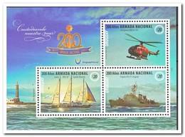 Uruguay 2017, Postfris MNH, 200 Years Armada, Ship, Helicopter, Lighthouse - Uruguay