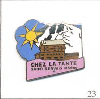 """Pin's Alimentaire - Restaurant """"Chez La Tante"""" à St Gervais (74).Non Estampillé. EGF. T614-23 - Alimentación"""