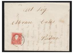 ITALIE -- LOMBARDO-VENETIE -- N°30 SUR LETTRE DE CHIOGGIA POUR PADOUE --1859-- - Lombardo-Vénétie