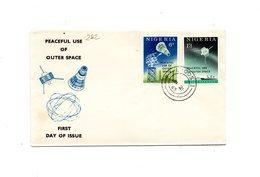 LAB282 - NIGERIA 1963 , Space Razzo Rocket Fusee Rakete Oberth, Fdc Commemorativa - Nigeria (1961-...)